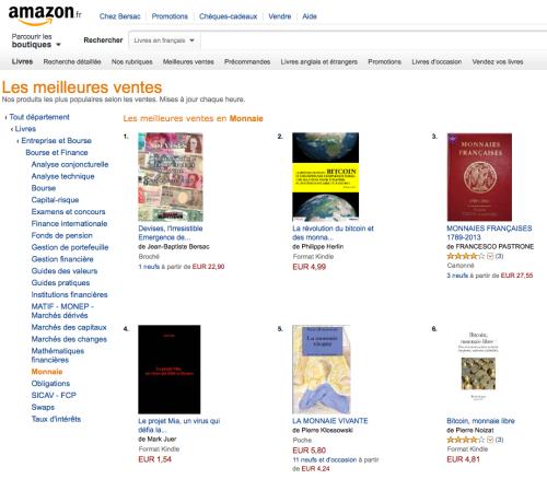 Le néochartalisme, n° 1 des ventes Amazon sur la monnaie.